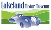 Lakeland Motor Museum Full logo with car and hills illustration