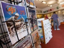 We stock a wide variety of postcards and posters reflecting the variety of motoring exhibits in the museum