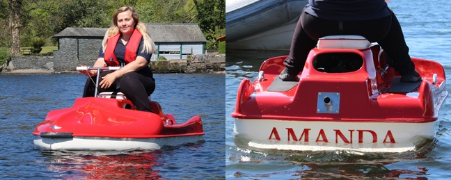 more images of the Amanda launch on Windermere