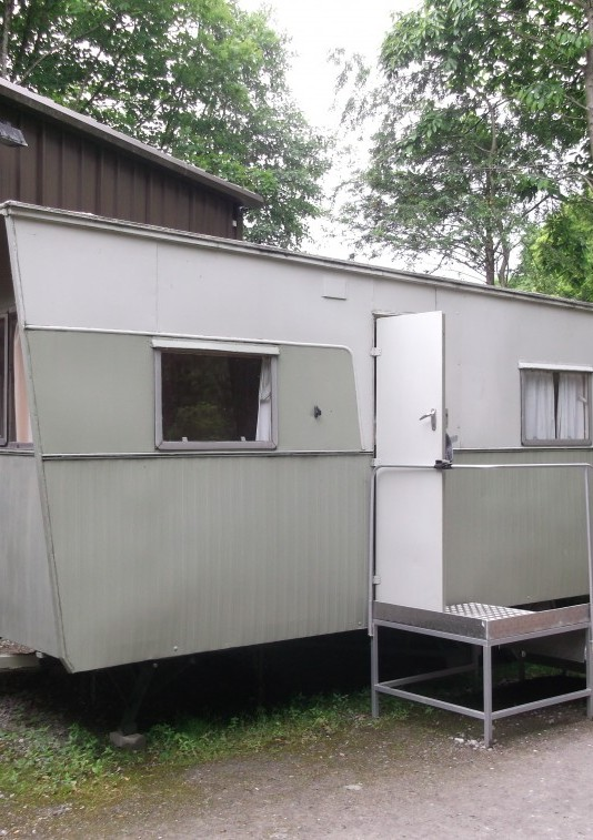 1961 Bluebird Senator Static Caravan 6 Berth with 2 fold down beds