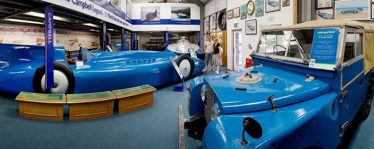 Image of the Campbell Bluebird exhibition inside it's own gallery space