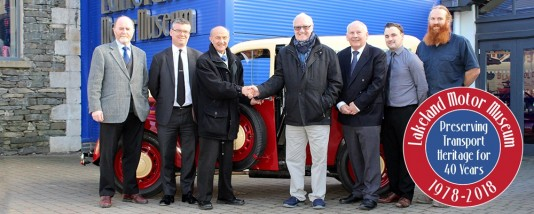Lakeland Motor Museum management team are reunited with the museum's founder.