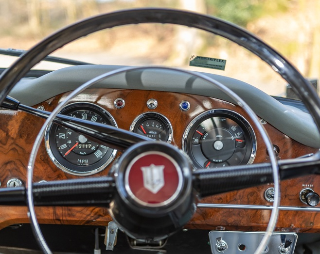 The interior of the vehicle is also immaculately preserved