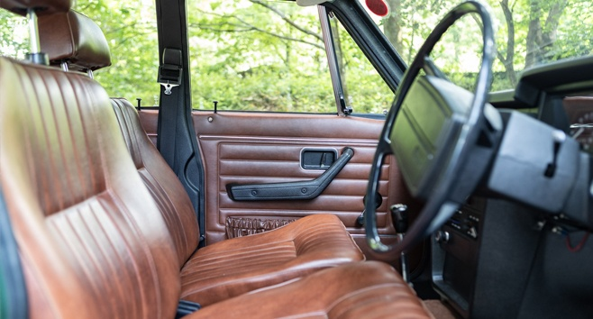 The stunning leather interior